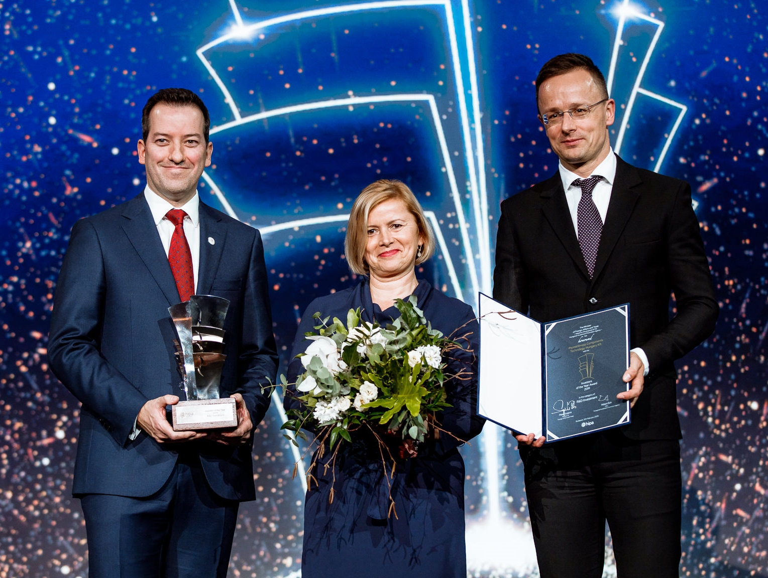 'Research and Development Investment of the Year' award for thyssenkrupp at HIPA's 'Investors of the Year 2019' gala event